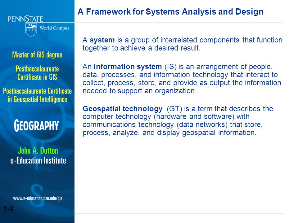 development of a geospatial framework List of geographic information  the development of open source gis  numerous systems are available which cover all sectors of geospatial data.