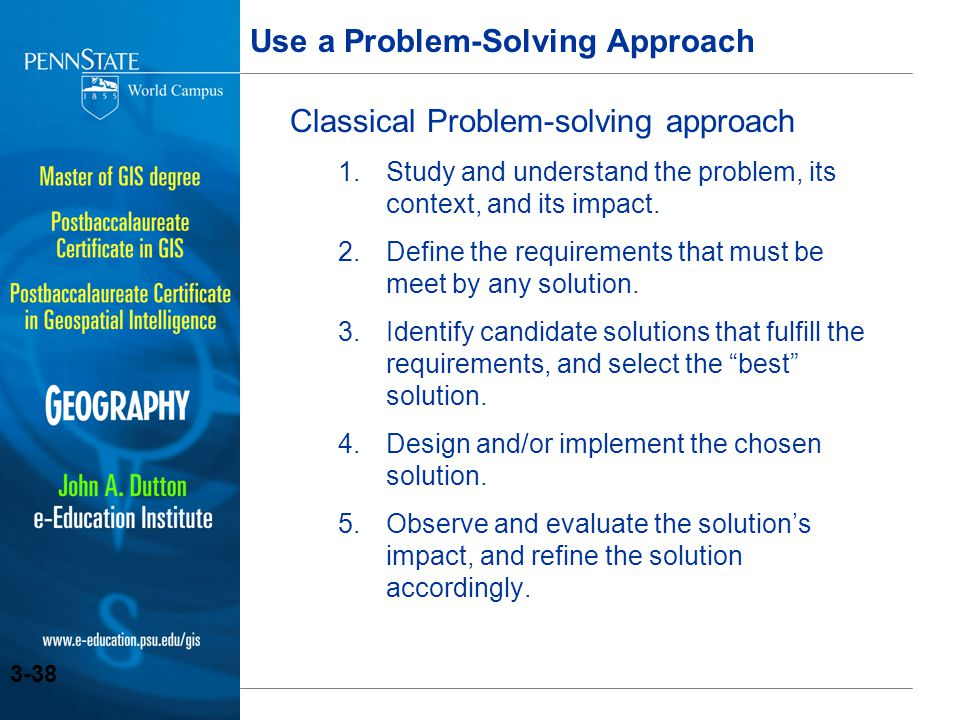 Use a Problem-Solving Approach