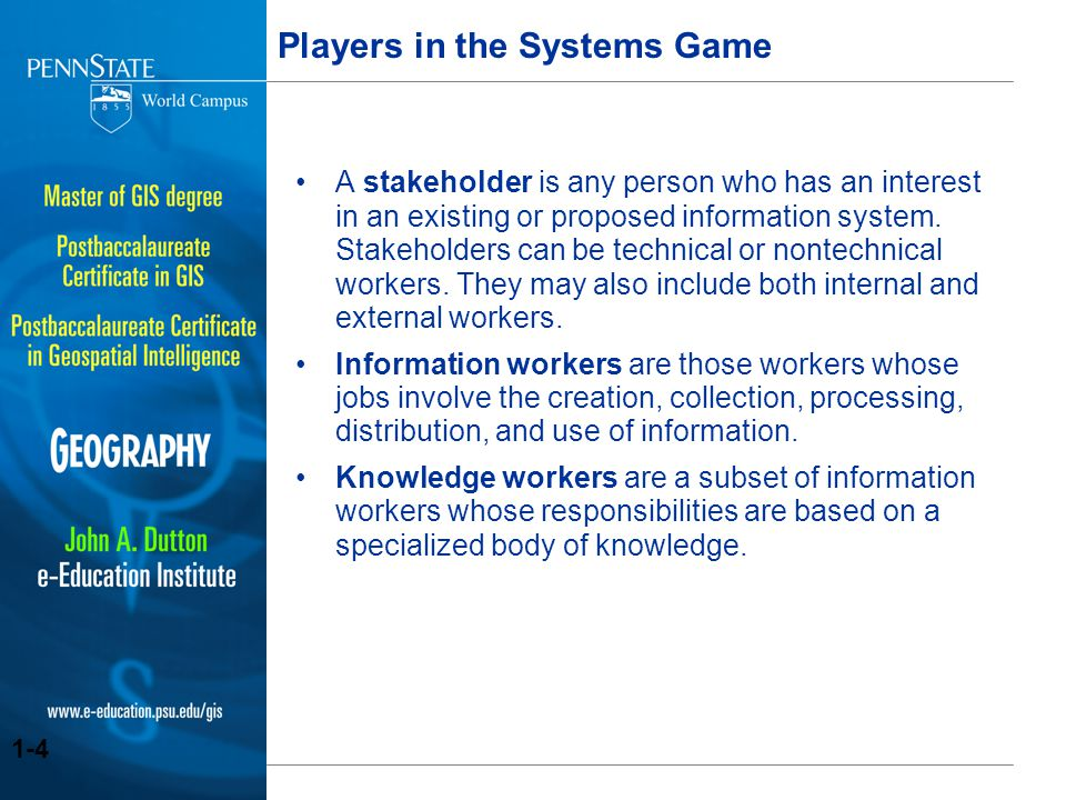 Players in the Systems Game