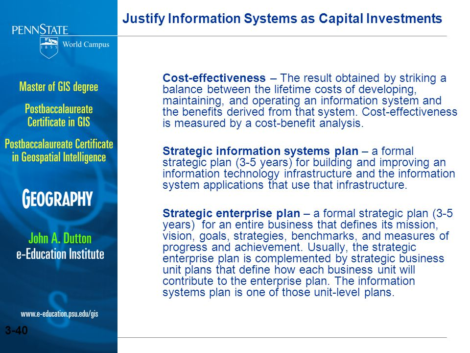Justify Information Systems as Capital Investments