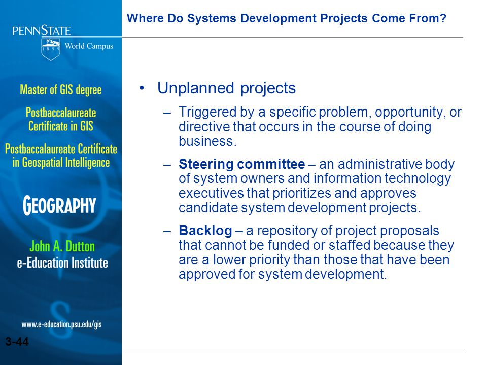 Where Do Systems Development Projects Come From