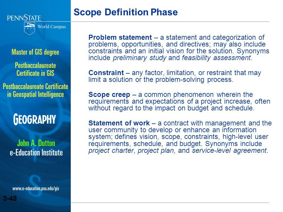 Scope Definition Phase
