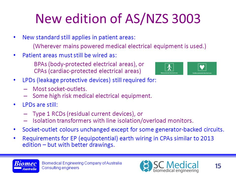 New edition of AS/NZS 3003 new standard: