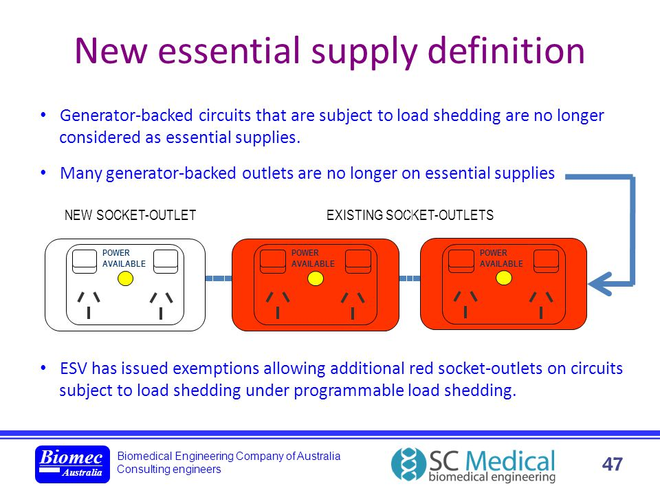 New essential supply definition
