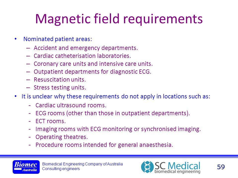 Magnetic field requirements