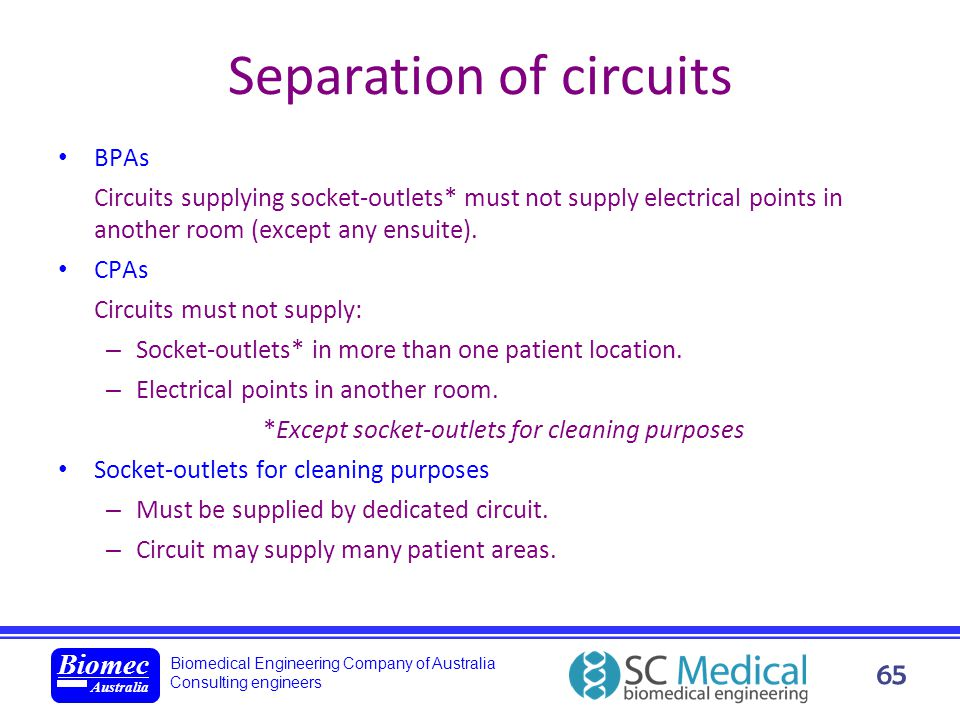 Separation of circuits