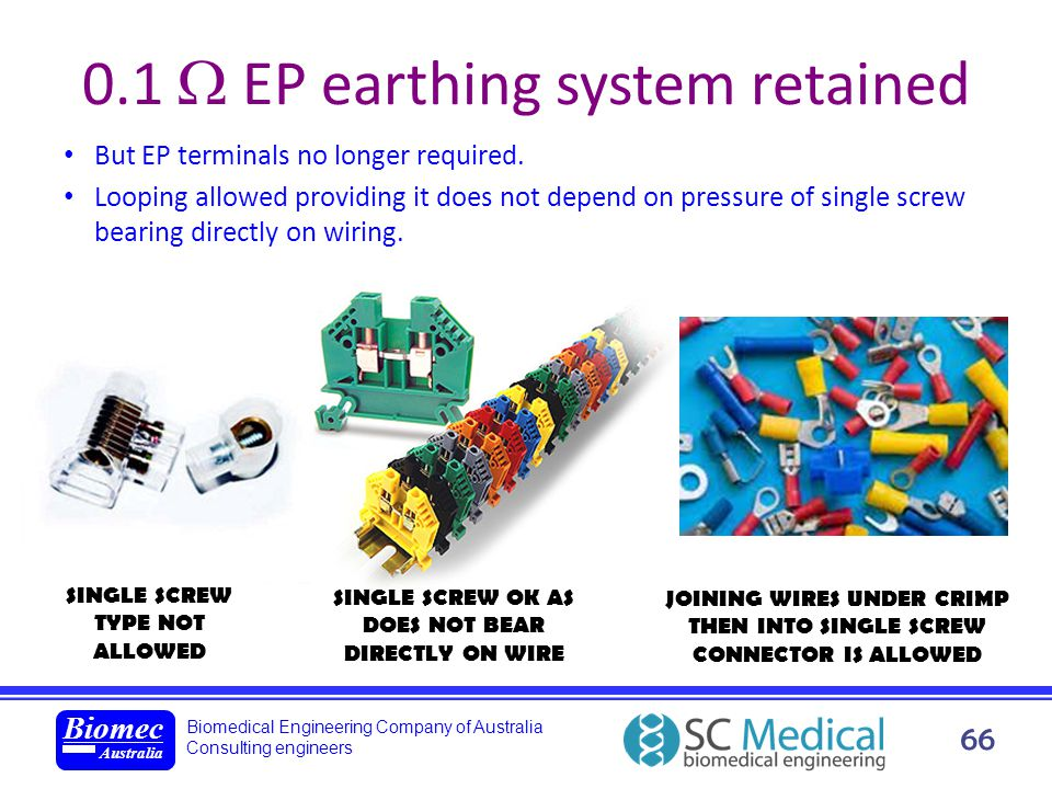0.1  EP earthing system retained