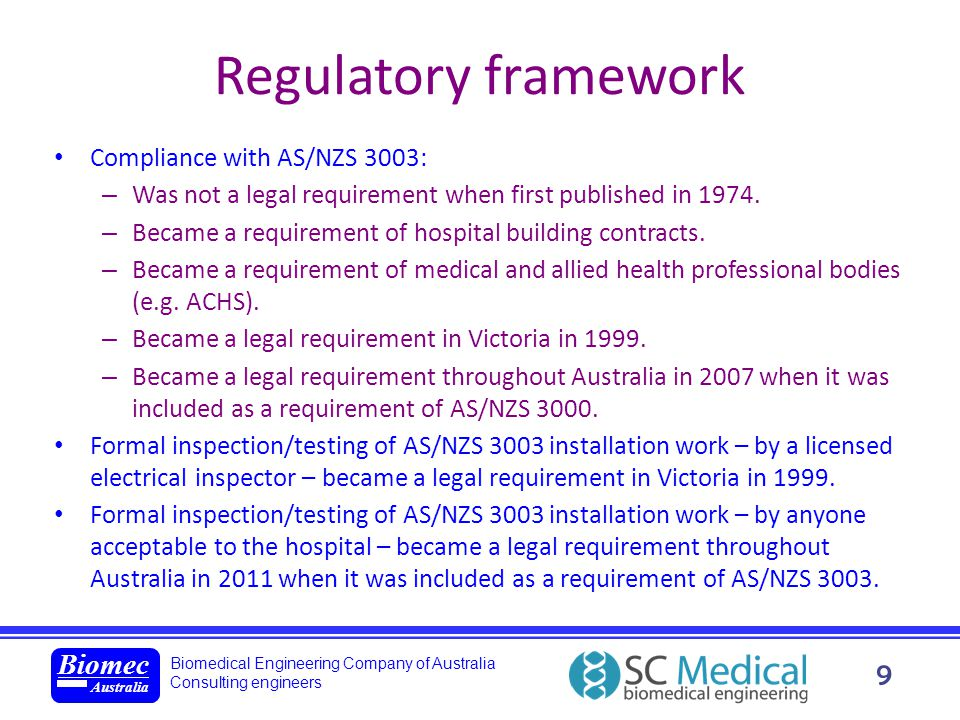 Regulatory framework new standard: