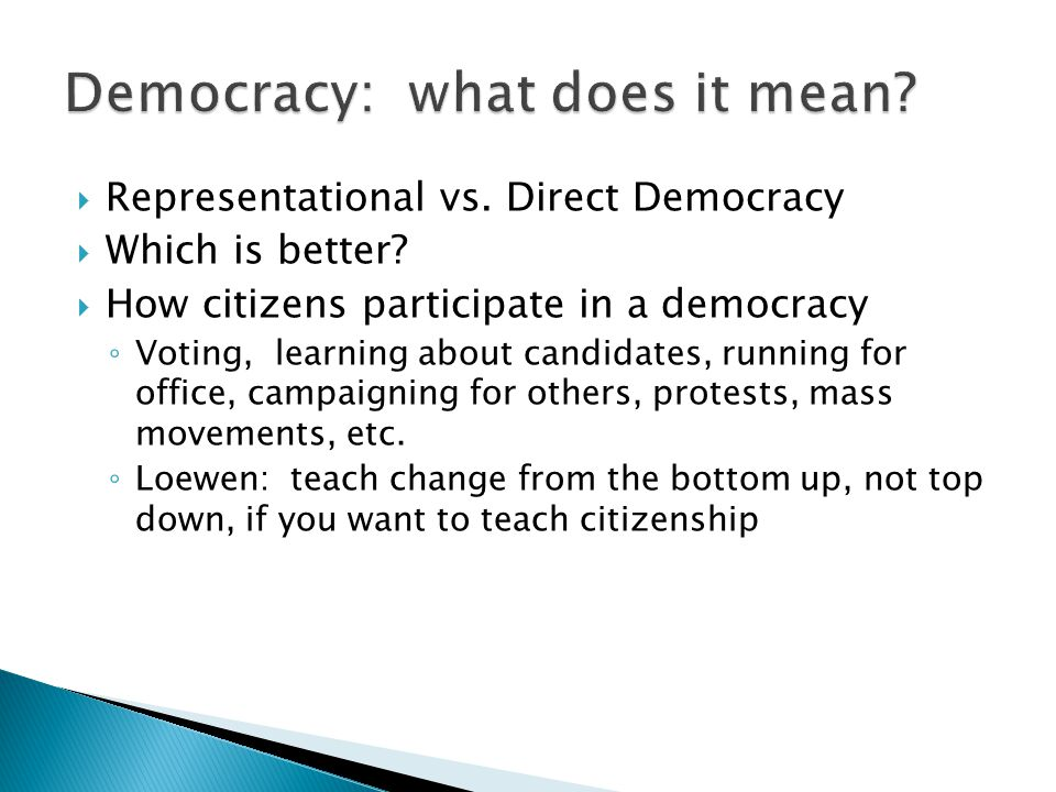 Democracy: what does it mean