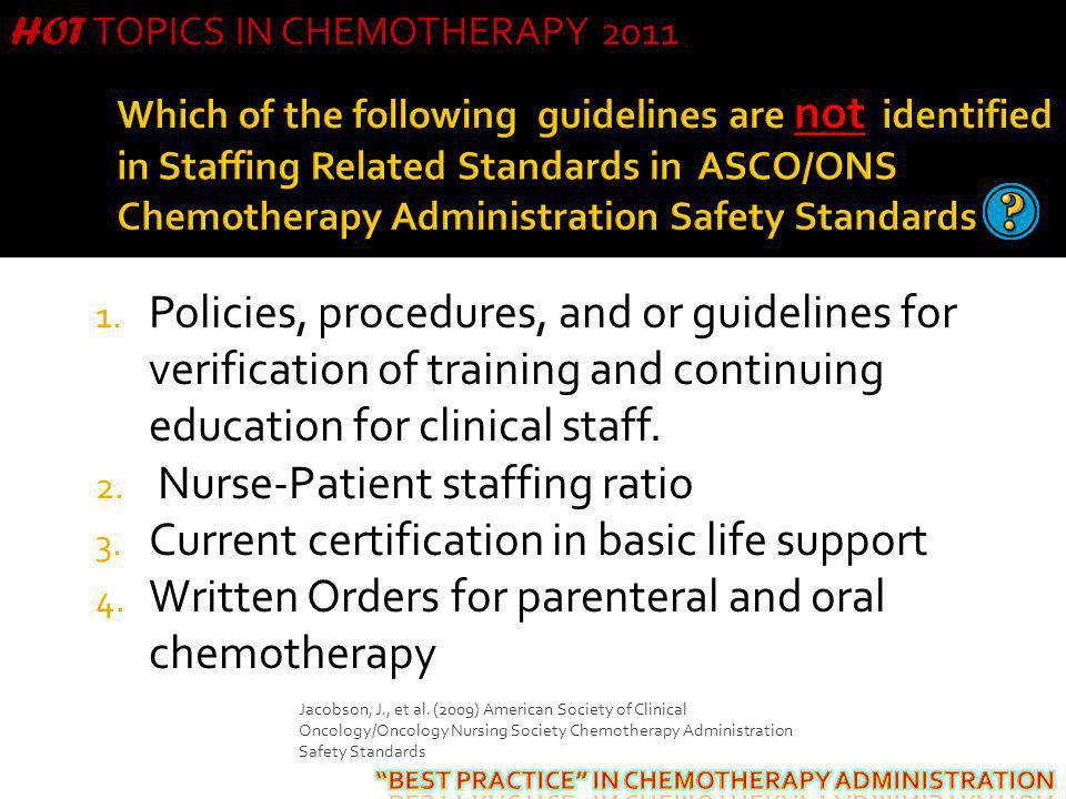 Nurse-Patient staffing ratio