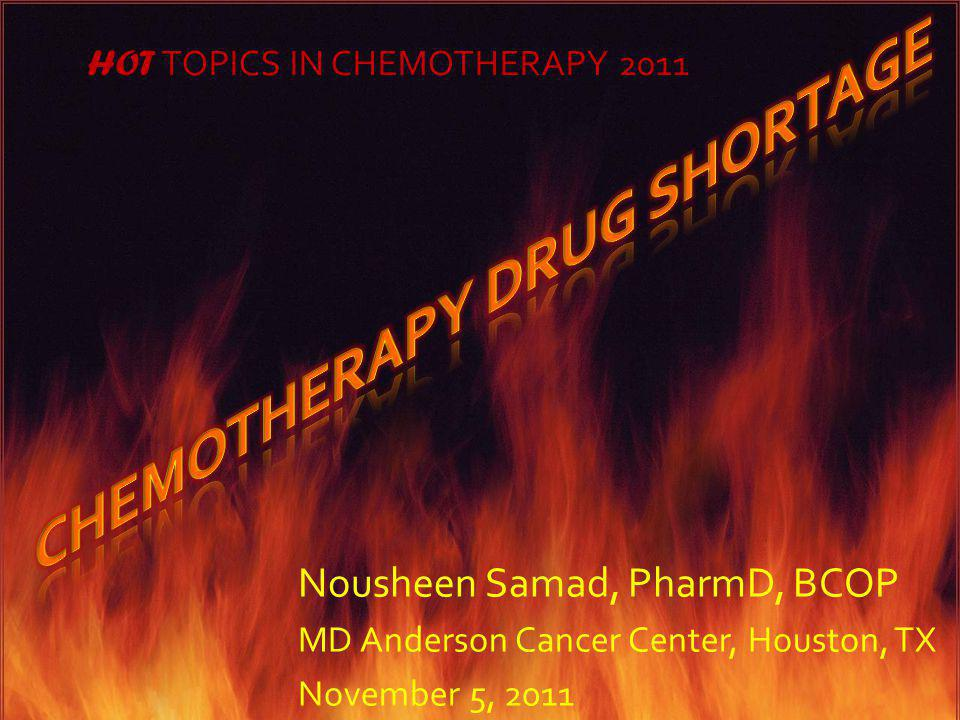 Chemotherapy Drug Shortage