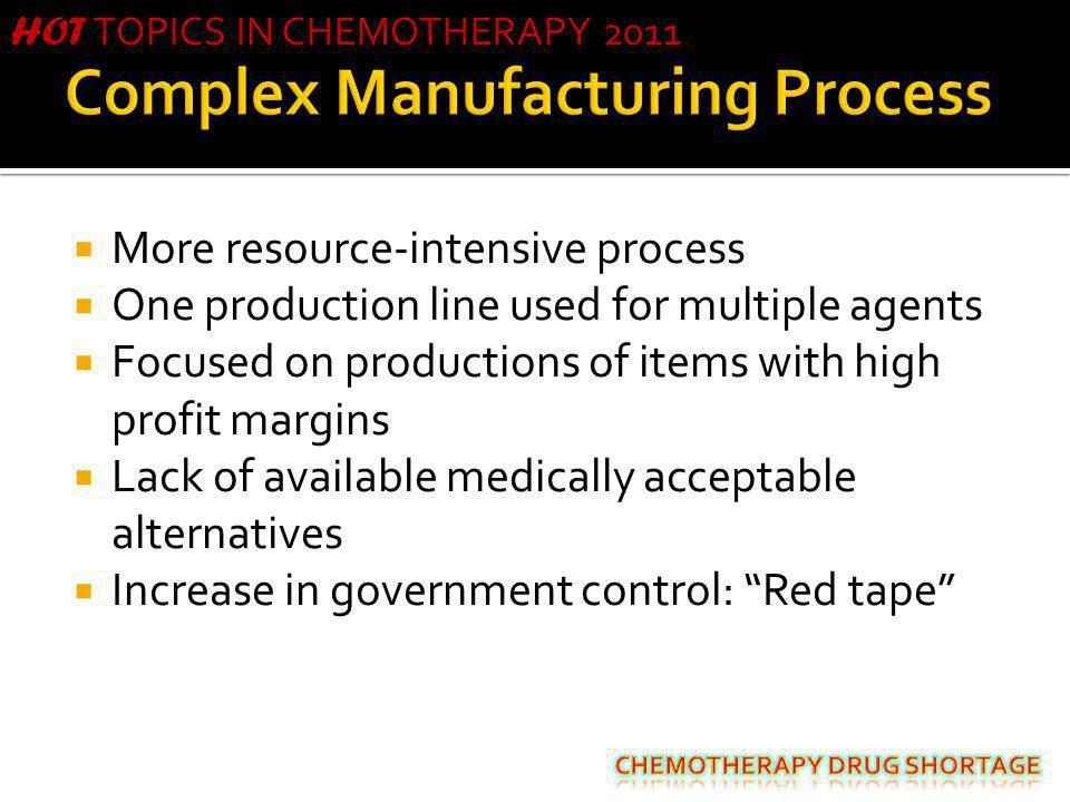 Complex Manufacturing Process