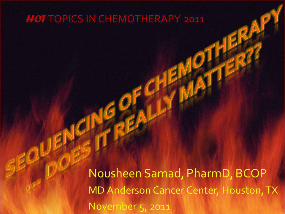 Sequencing of Chemotherapy