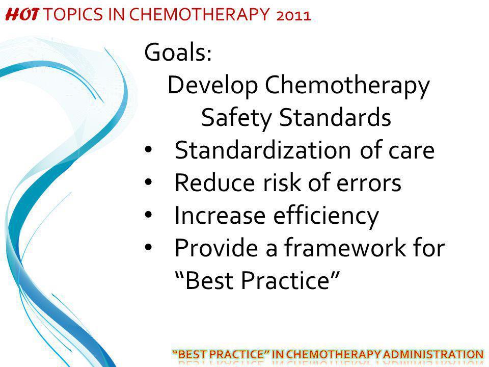 Develop Chemotherapy Safety Standards