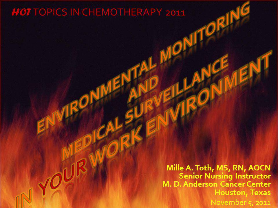 Environmental monitoring In your work environment