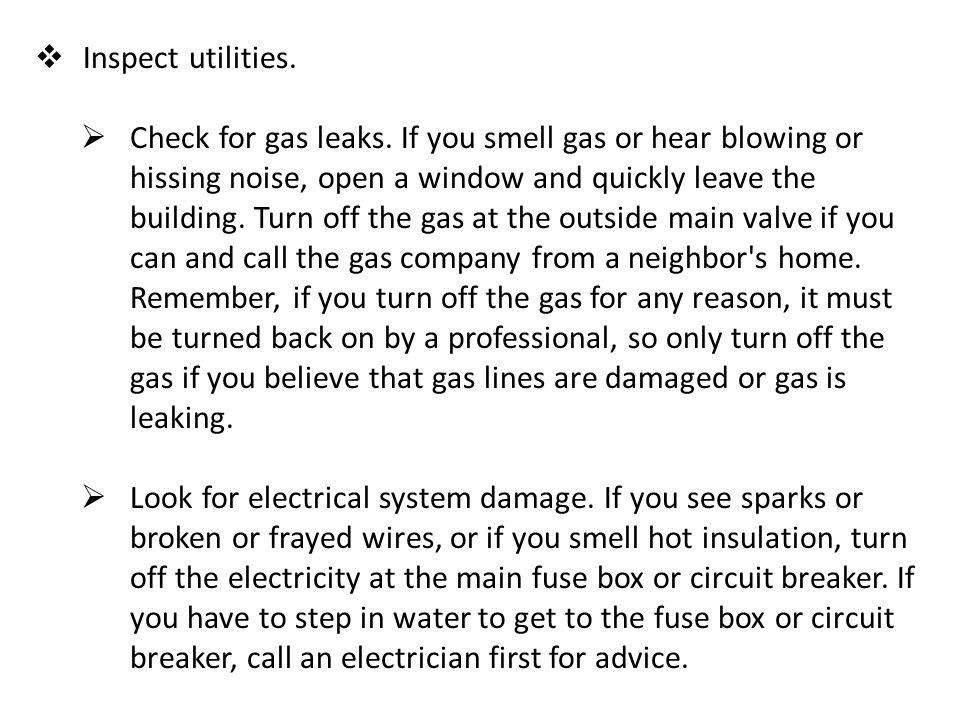 Inspect utilities.