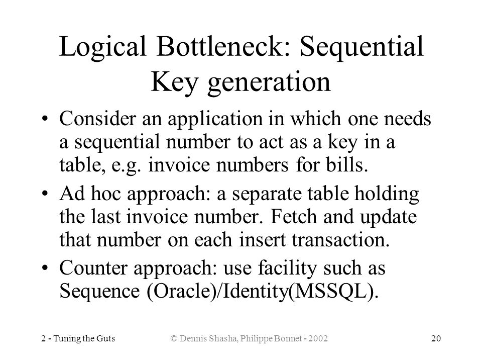 Logical Bottleneck: Sequential Key generation