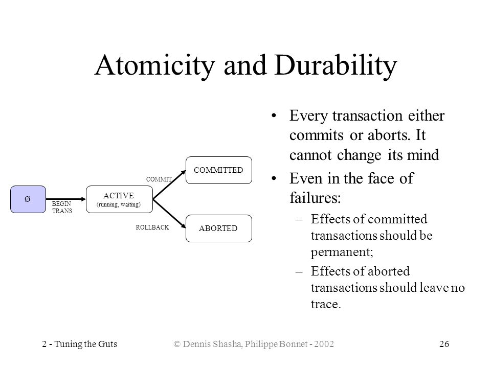 Atomicity and Durability