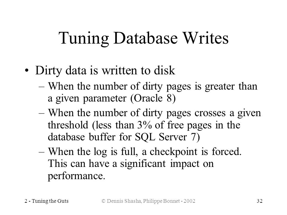 Tuning Database Writes