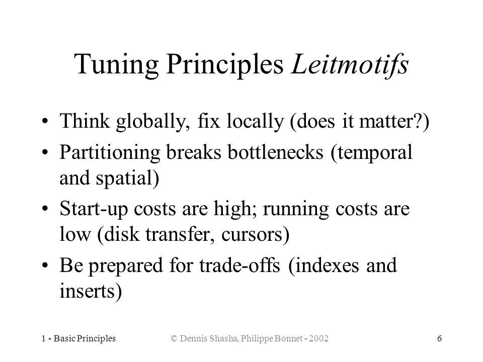 Tuning Principles Leitmotifs