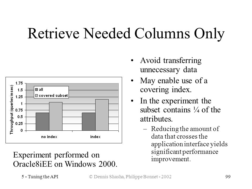 Retrieve Needed Columns Only