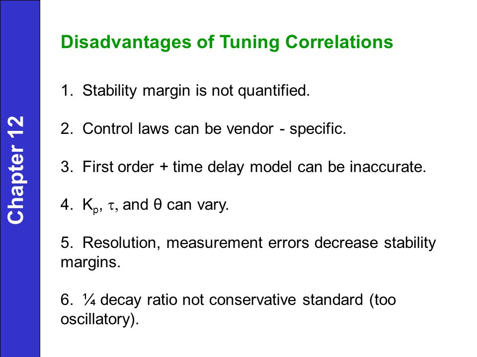 Chapter 12 Disadvantages of Tuning Correlations