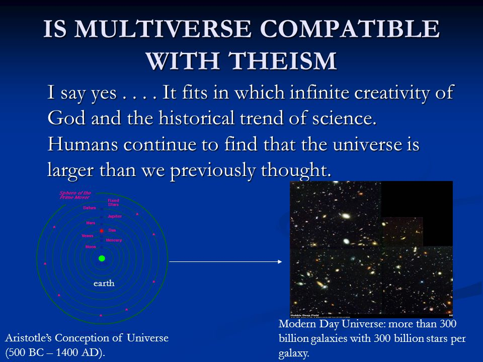 IS MULTIVERSE COMPATIBLE WITH THEISM