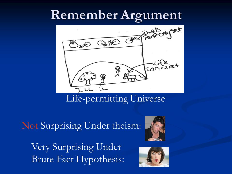 Remember Argument Life-permitting Universe