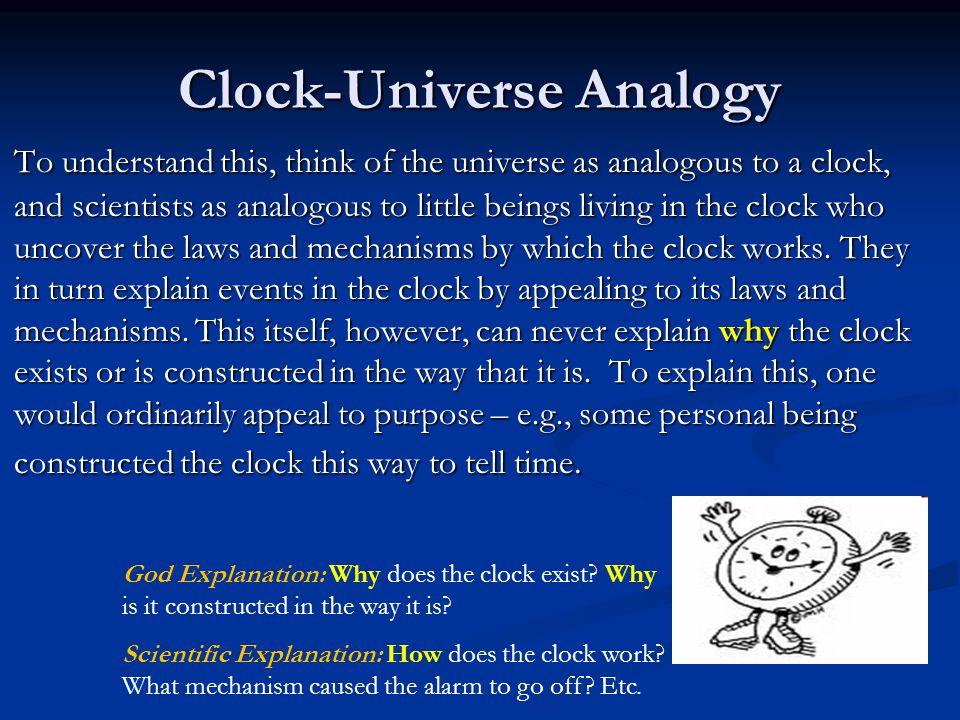 Clock-Universe Analogy