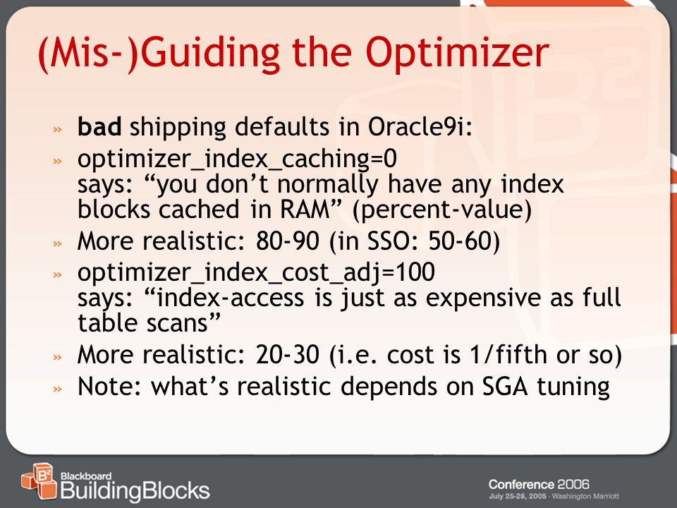 (Mis-)Guiding the Optimizer