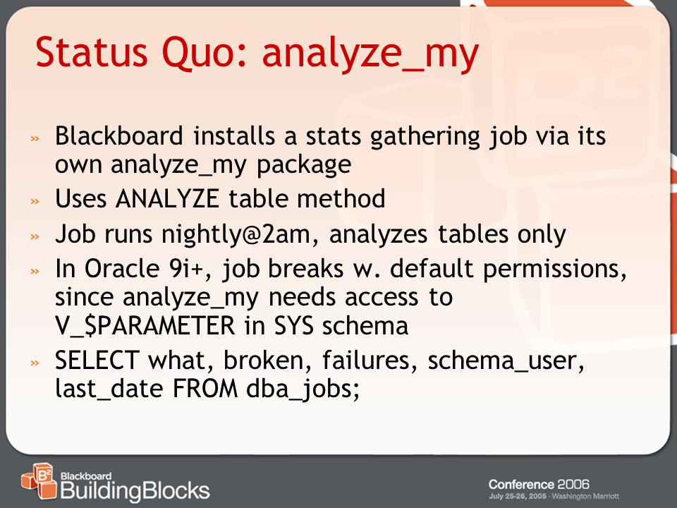 Status Quo: analyze_my