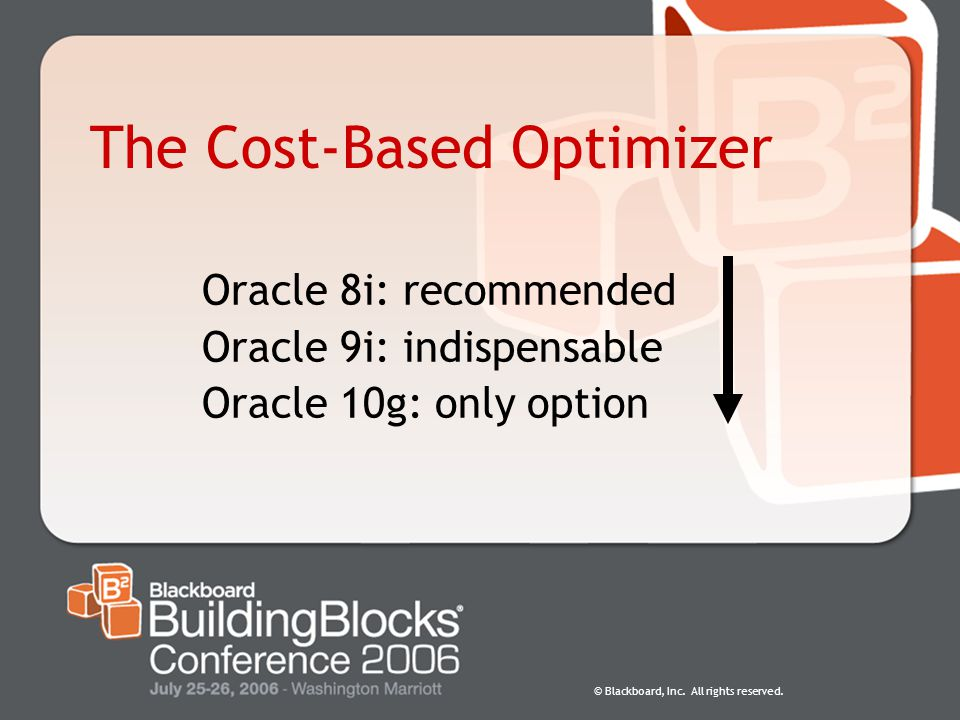 The Cost-Based Optimizer