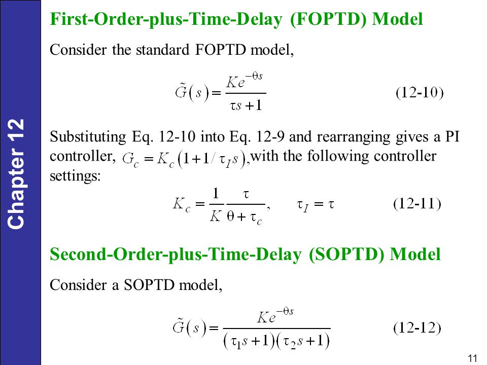 First-Order-plus-Time-Delay (FOPTD) Model