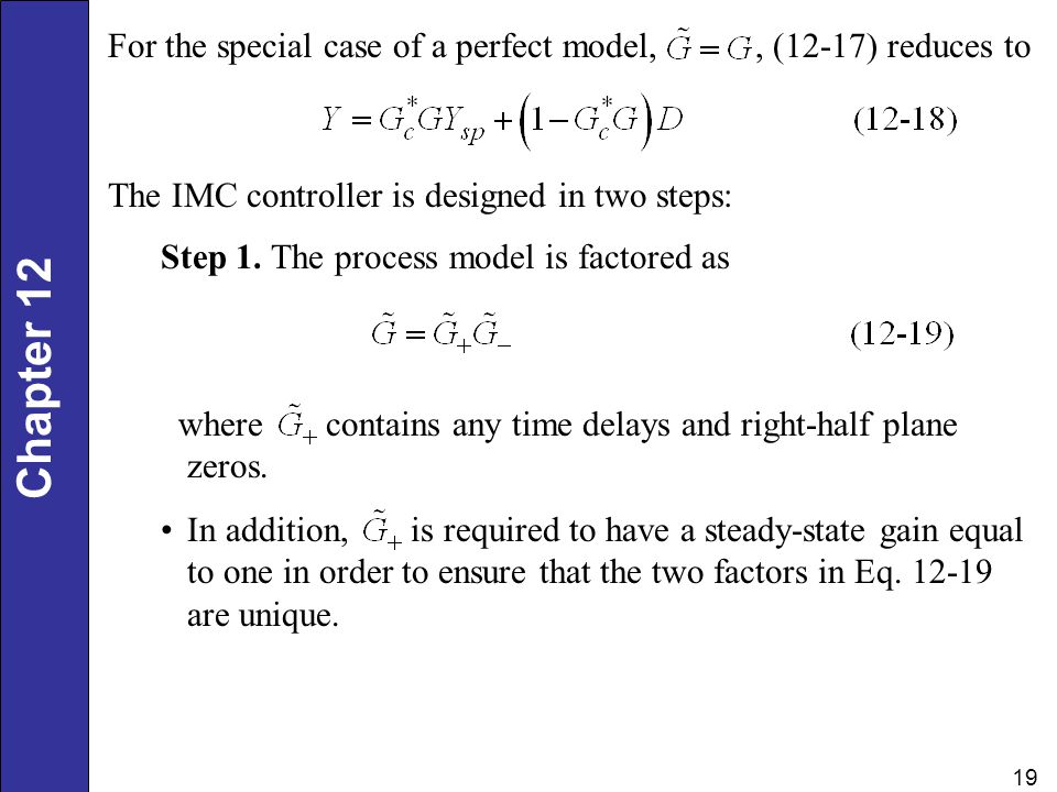 For the special case of a perfect model, , (12-17) reduces to