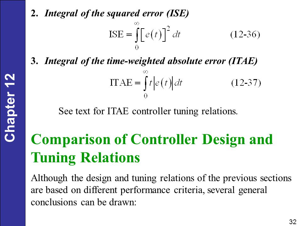 Comparison of Controller Design and Tuning Relations