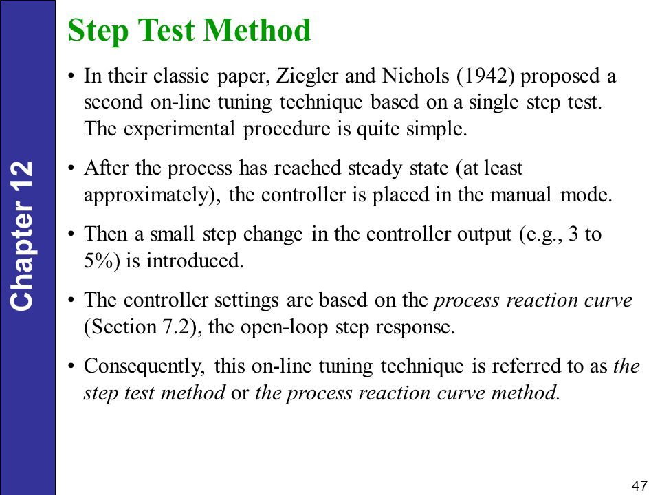 Step Test Method
