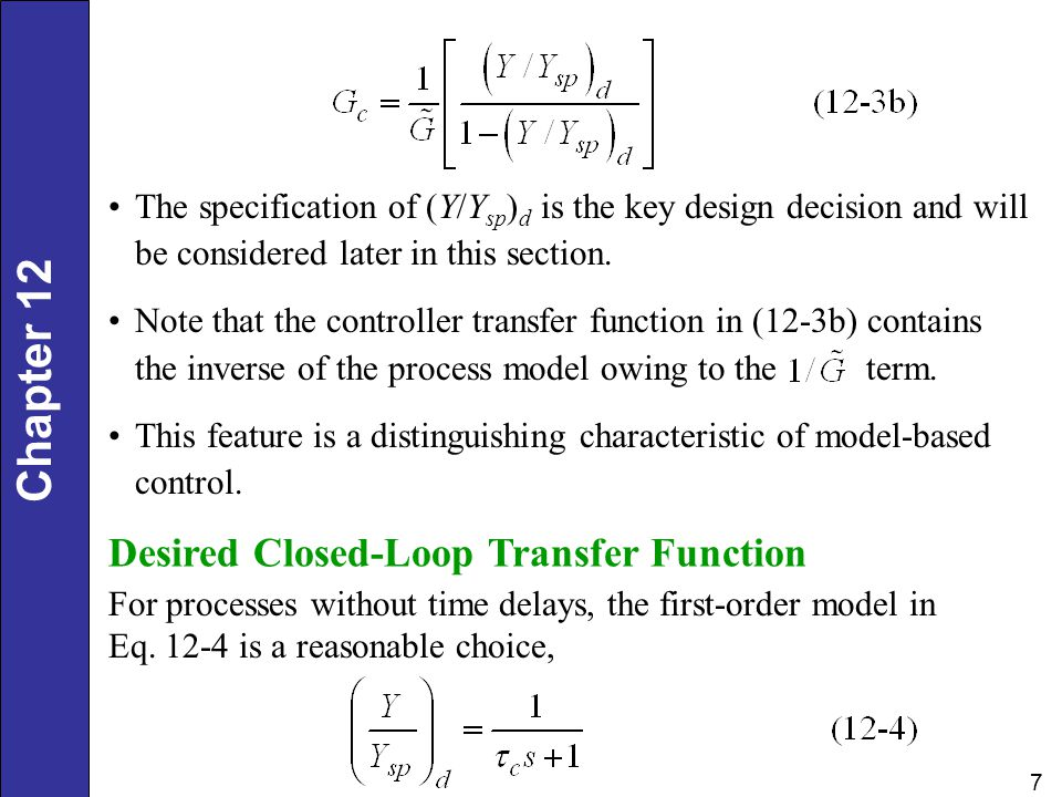 Desired Closed-Loop Transfer Function