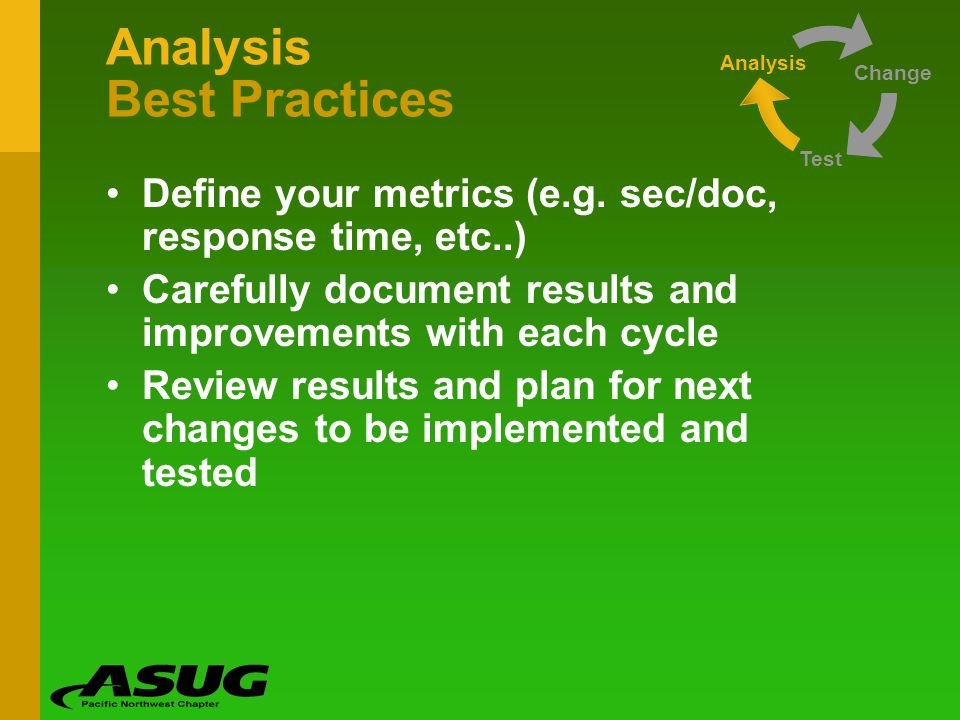 Analysis Best Practices