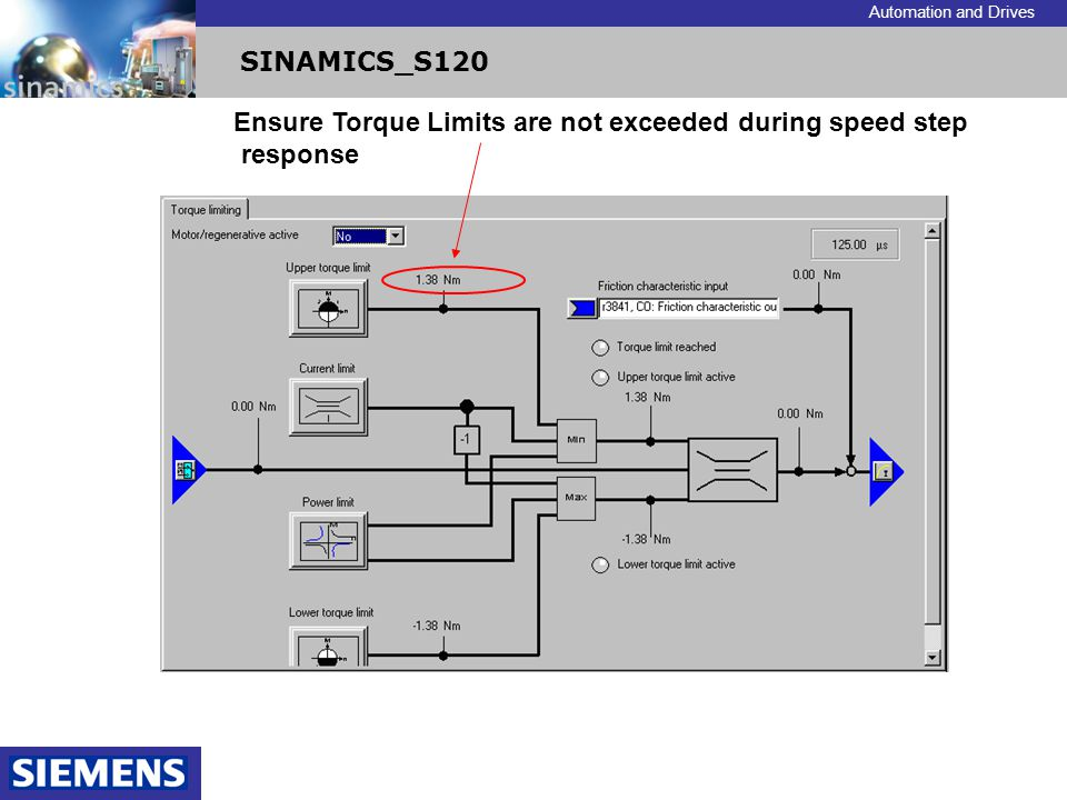 Ensure Torque Limits are not exceeded during speed step