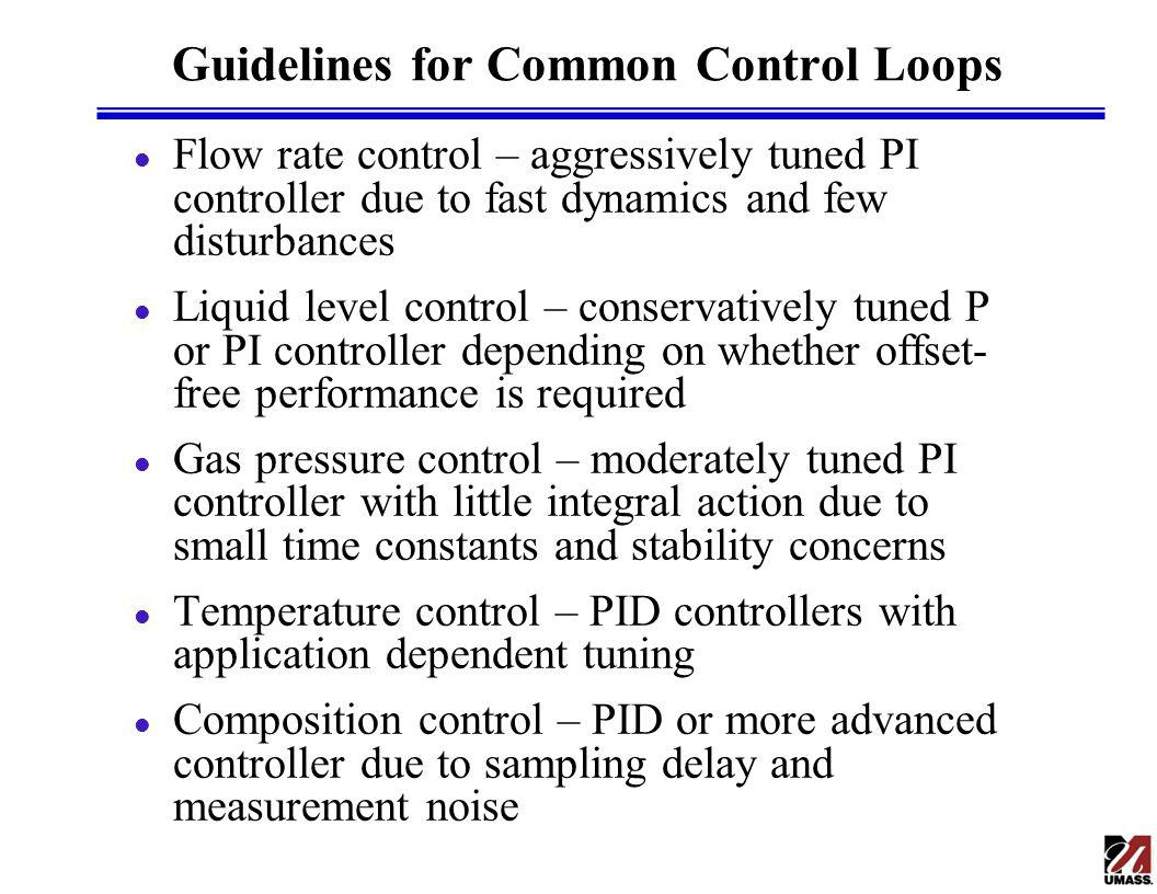 Guidelines for Common Control Loops