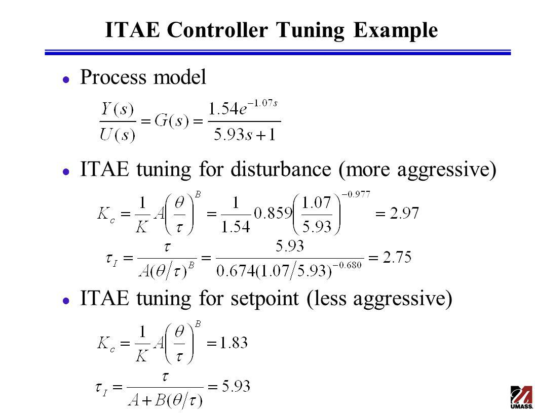 ITAE Controller Tuning Example