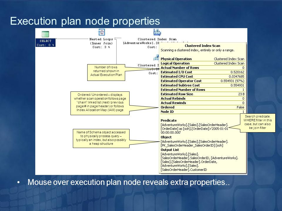 Number of rows returned shown in Actual Execution Plan