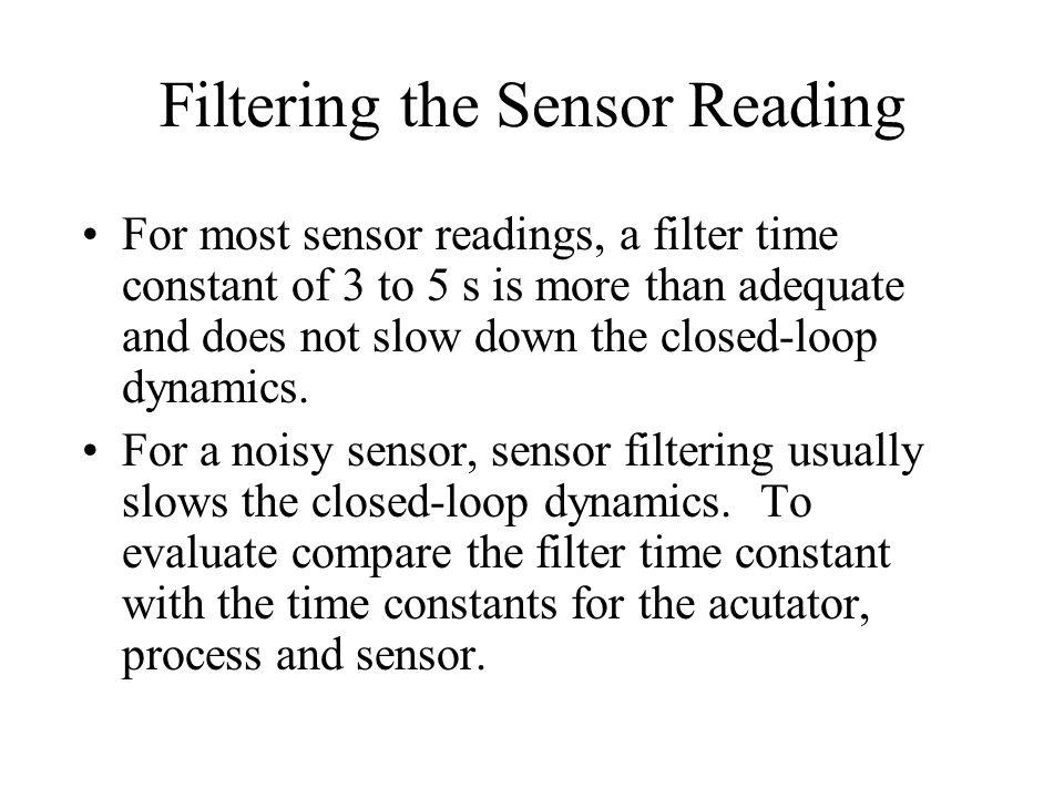 Filtering the Sensor Reading
