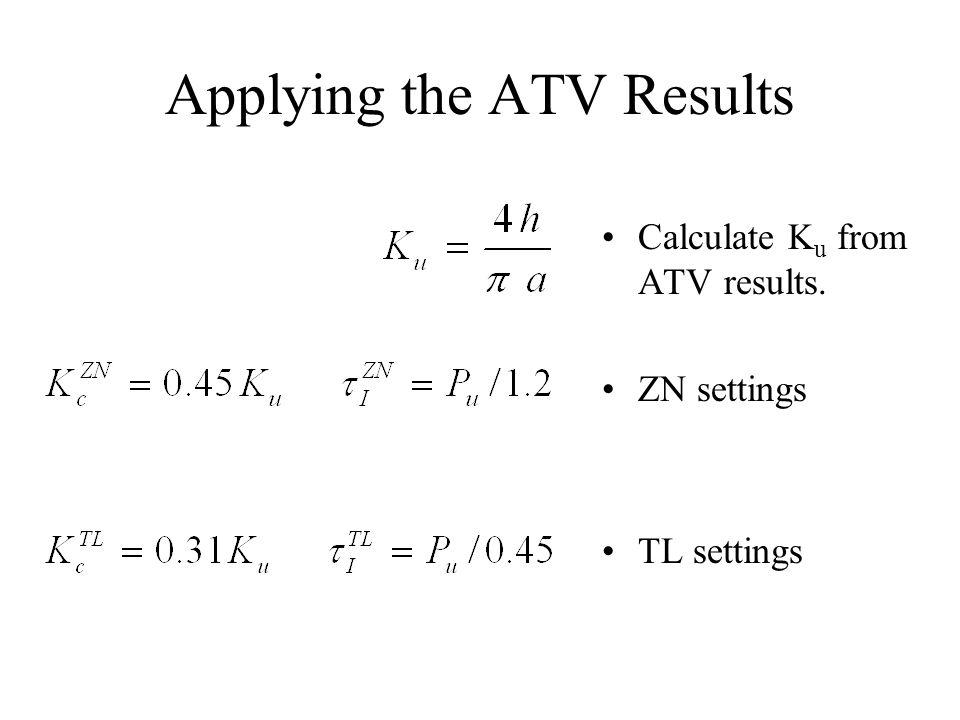 Applying the ATV Results