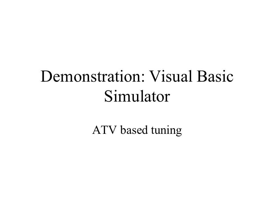 Demonstration: Visual Basic Simulator