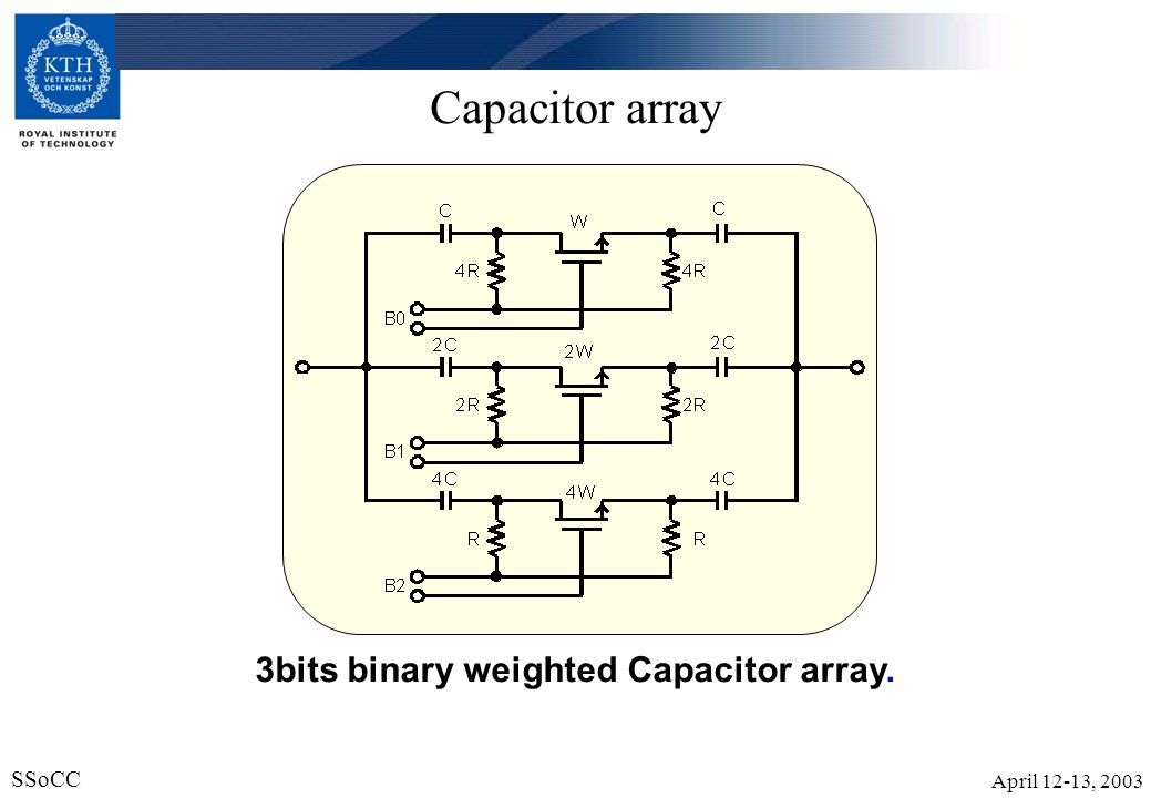 3bits binary weighted Capacitor array.