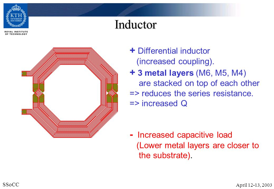 Inductor + Differential inductor (increased coupling).
