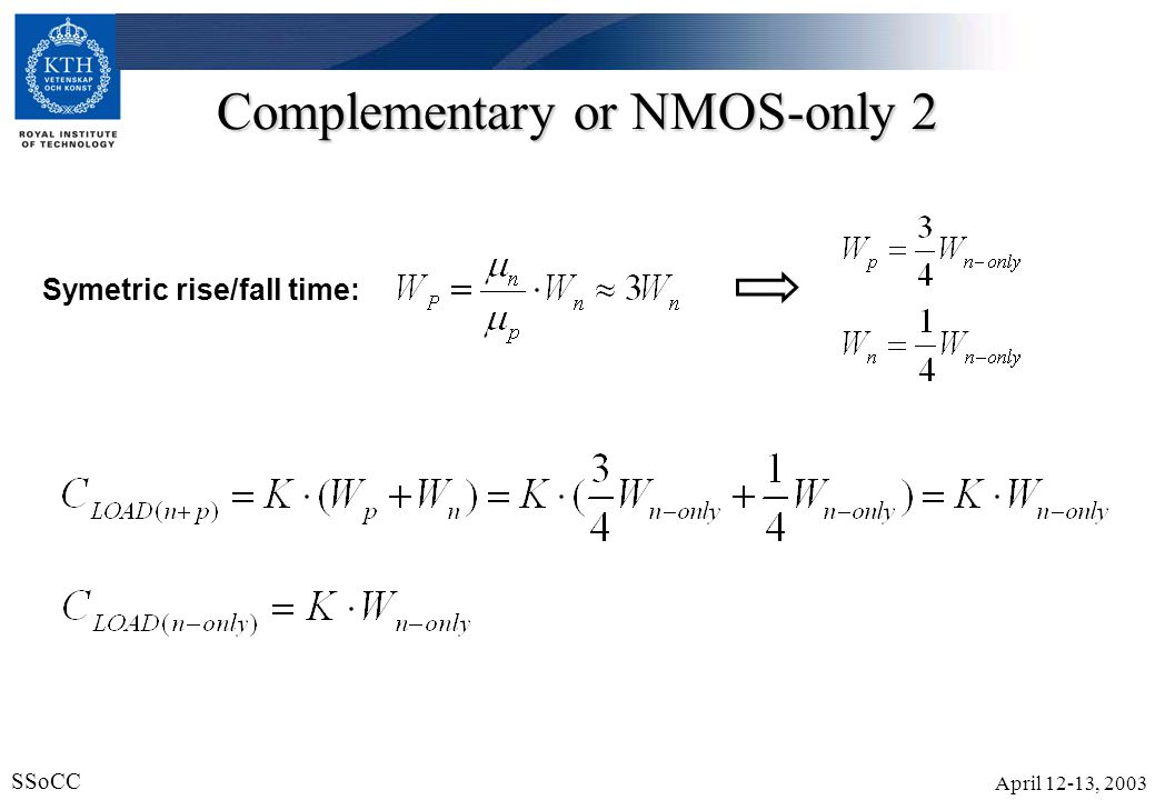 Complementary or NMOS-only 2