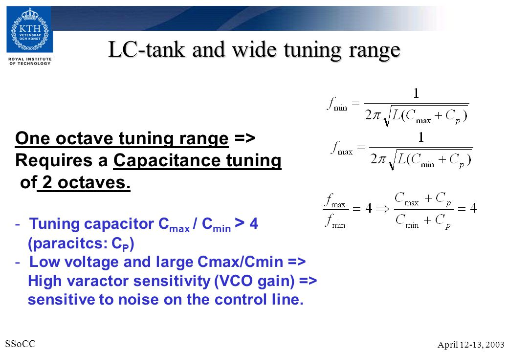 LC-tank and wide tuning range