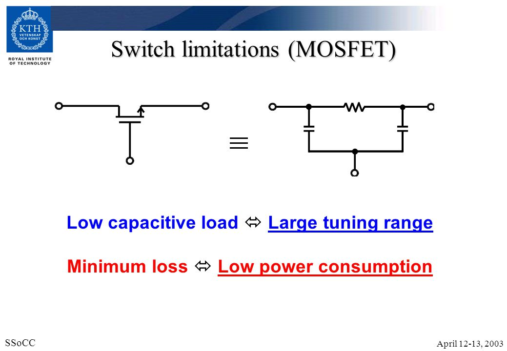 Switch limitations (MOSFET)